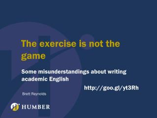 The exercise is not the game