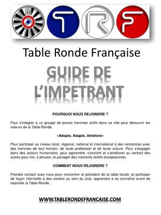 Table Ronde Fran�aise