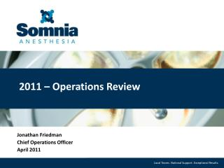 2011  –  Operations Review