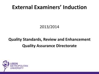 External  Examiners' Induction
