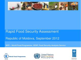 Rapid Food Security Assessment Republic of Moldova, September 2012