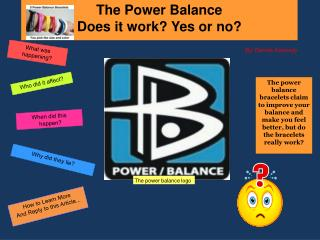 The Power Balance Does it work? Yes or no?