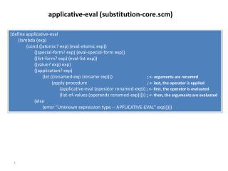 (define applicative- eval        (lambda (exp)
