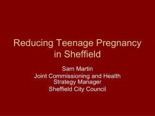 Reducing Teenage Pregnancy