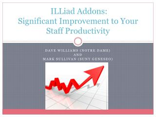 ILLiad  Addons :  Significant  Improvement to Your Staff  Productivity