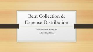 Rent Collection & Expense Distribution