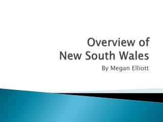 Overview of  New South Wales