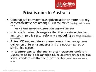 Privatisation In Australia