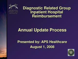 Diagnostic Related Group Inpatient Hospital Reimbursement