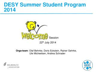 DESY Summer Student Program 2014