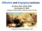 Effective and Engaging Lectures