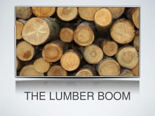 THE LUMBER BOOM