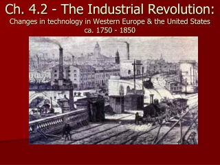 Energy  and The Industrial Revolution