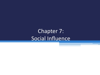 Social Groups Chapter 7