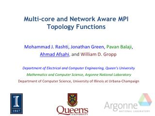 Multi-core and Network Aware MPI Topology Functions