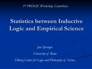 Statistics between Inductive Logic and Empirical Science