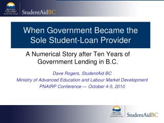 When Government Became the  Sole Student-Loan Provider