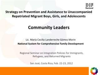 Regional Seminar on Integration Policies for Immigrants, Refugees, and Returned Migrants