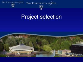 Project selection