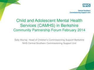 Sally  Murray  Head  of Children's Commissioning Support Berkshire