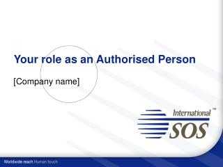Your role as an Authorised Person