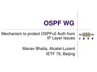 OSPF WG