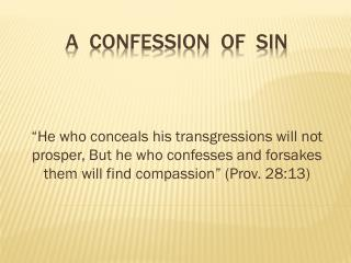A  CONFESSION  OF  SIN
