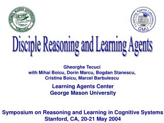 Learning Agents Center George Mason University