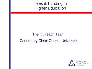 Fees & Funding in  Higher Education