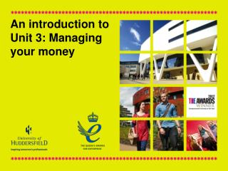 An introduction to Unit 3: Managing your money