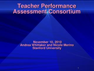 Teacher Performance Assessment Consortium