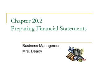 Chapter 20.2  Preparing Financial Statements
