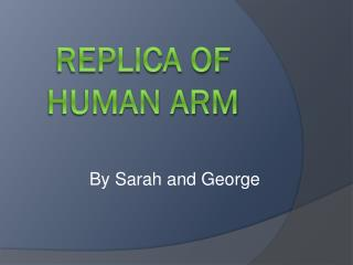 Replica of      human arm