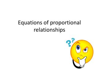 Equations of proportional relationships