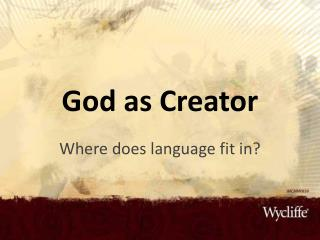 God as Creator