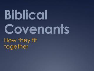 Biblical Covenants