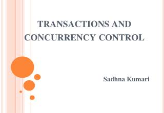 transactions and concurrency control