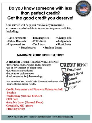 Do you know someone with less than perfect credit? Get the good credit you deserve!