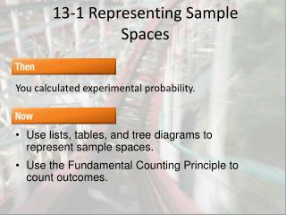 13-1 Representing Sample Spaces