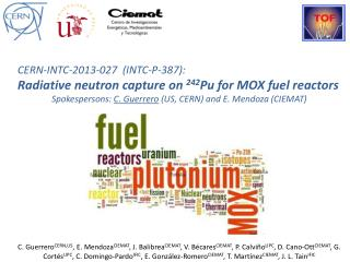 CERN-INTC-2013-027  (INTC-P-387): Radiative neutron capture on  242 Pu for MOX fuel reactors