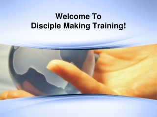 Disciplemaking-A Model from the life of Jesus