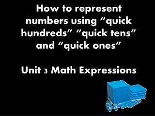 Numbers, such as 84, have two digits. Each digit is a different place value.