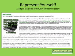 Represent Yourself! …and join the global community  of teacher leaders.