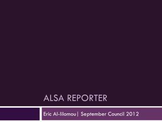 ALSA Reporter
