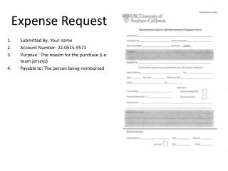 Expense Request