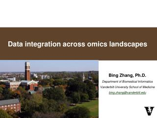 Data integration across  omics  landscapes