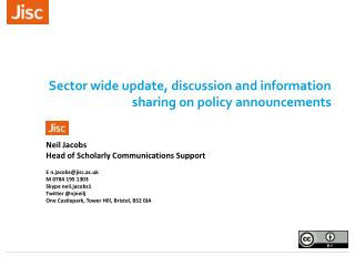 Sector wide update, discussion and information sharing on policy announcements