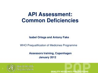 API Assessment: Common Deficiencies