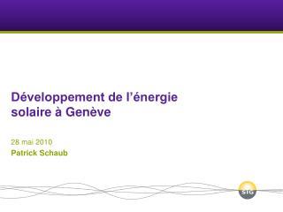 Développement de l'énergie solaire à Genève