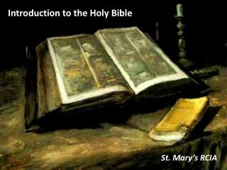 Introduction to the Holy Bible